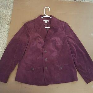 Dark purple/Burgundy, textured Blazer Jacket